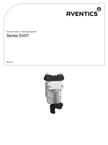 Series SV07 electrically operated