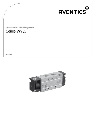 Series WV02 pneumatically operated