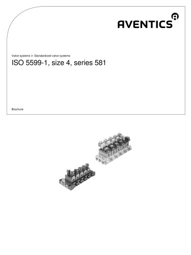 Valve systeme - Standardizeds ISO 5599-1, size 4, series 581