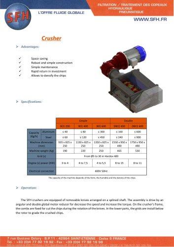 Data sheet chips crusher