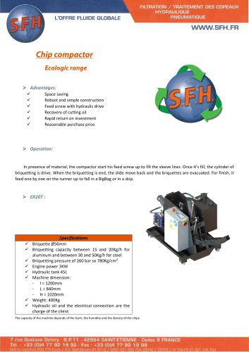 data sheet compactor unit ecological range