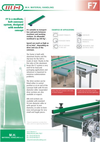 F7 Medium conveyors