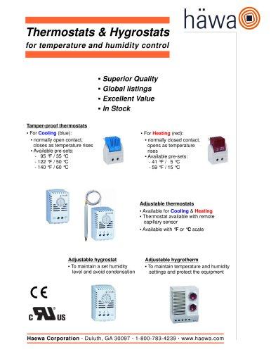 Thermostats & Hygrostats