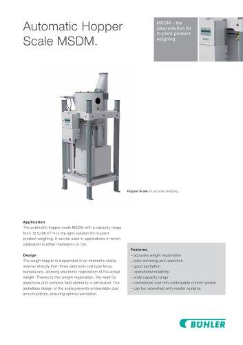 Automatic Hopper Scale MSDM