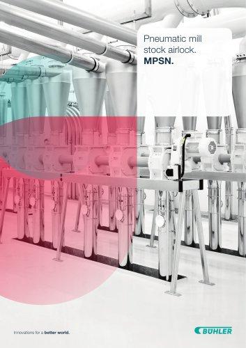 Pneumatic mill stock airlock MPSN