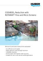 COD/BOD Reduction with ROTAMAT® Fine and Micro Screens