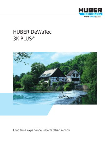 HUBER DeWaTec 3K PLUS® plant (fixed bed)