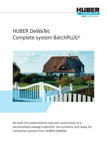 HUBER DeWaTec Complete system BatchPLUS®