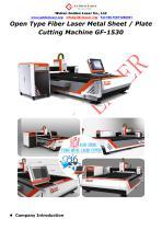 Open Type Fiber Laser Metal Sheet / Plate Cutting Machine GF-1530