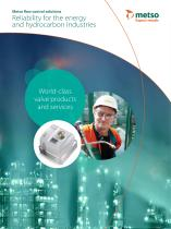 Metso flow control solutions - Reliability for the energy and hydrocarbon industries