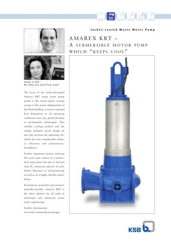 Amarex KRT Jacket-cooled Waste Water Pump double-sided product