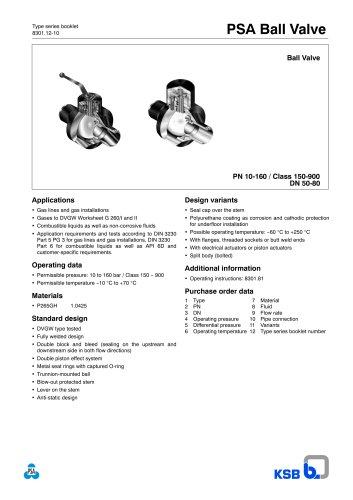 Ball Valve KHG DN 50-80