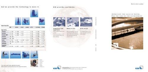 """Brochure """"Waste water pumps"""""""