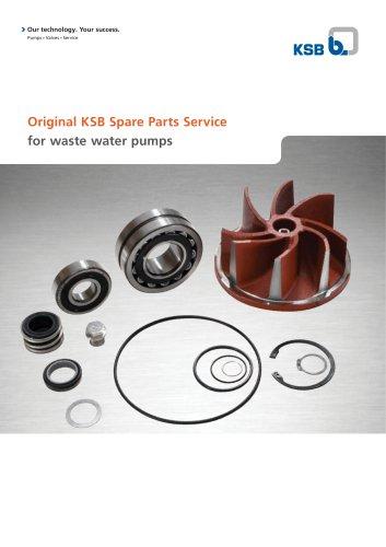 Original KSB Spare Parts Service for waste water pumps