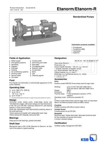 Product Introduction Etanorm