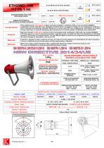 SOUNDERS/HORN ETH20MD 10W Exd IIC 109/112 dB - 1 mt