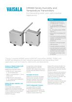 HMD60 Series Humidity andTemperature Transmitters