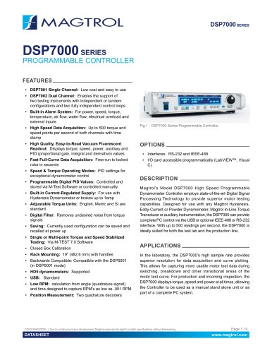 DSP 7000 | High-Speed Programmable Controller