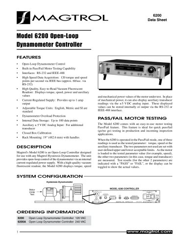 Dynamometer Controller/Readout 6200