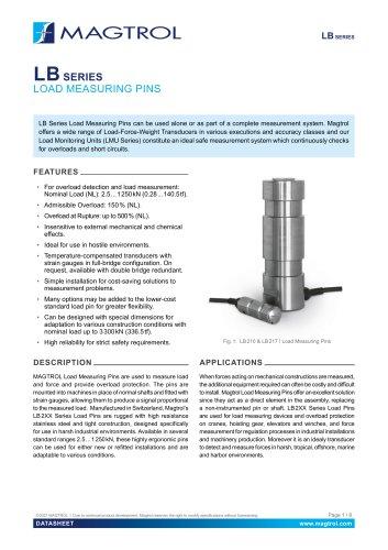 LB Series | Load Measuring Pins