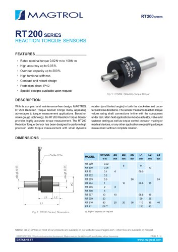 RT 200 Series | Reaction Torque Sensor