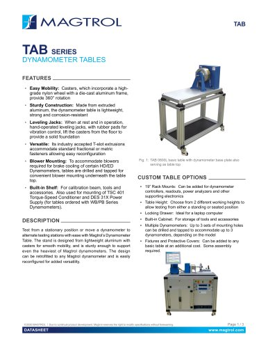 TAB Series Dynamometer Tables