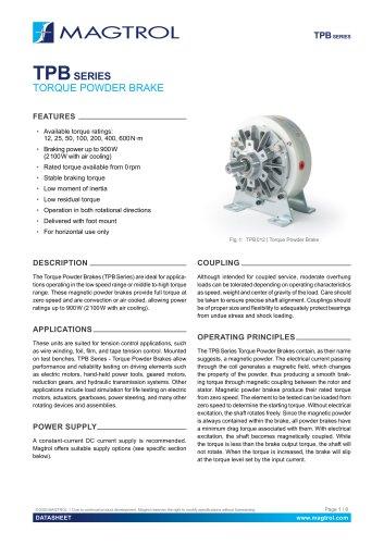 TPB Series | Torque Powder Brake
