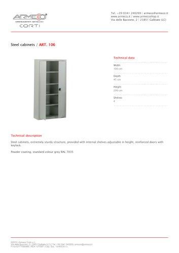 Steel cabinets / ART. 106