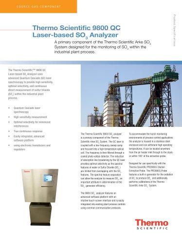 9800 QC Laser-based SO3 Analyzer