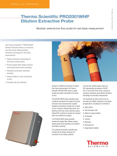 Dilution Extractive Probe PRO2001WHP