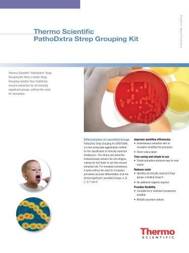 PathoDxtra Strep Grouping Kit
