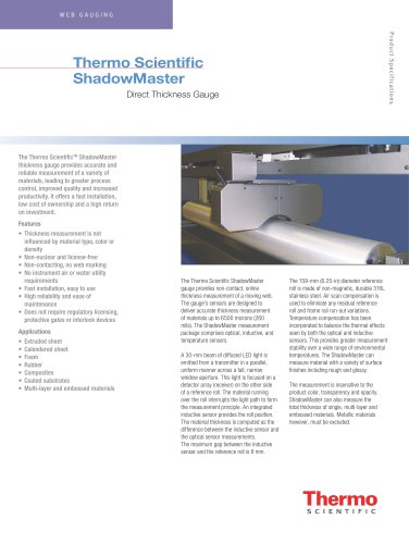 ShadowMaster Direct Thickness Gauge