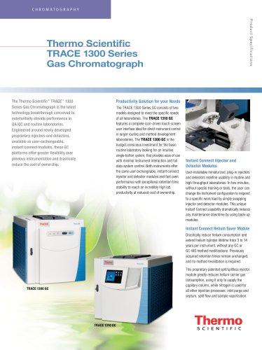 Thermo Scientific  TRACE 1300 Series  Gas Chromatograph