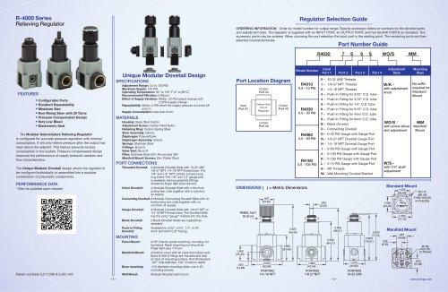 R-4000 Relieving Regulator