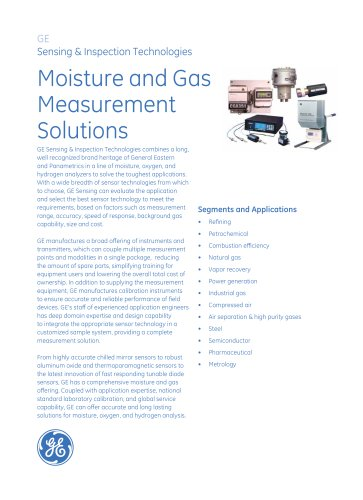 Moisture and Gas Measurement Solutions