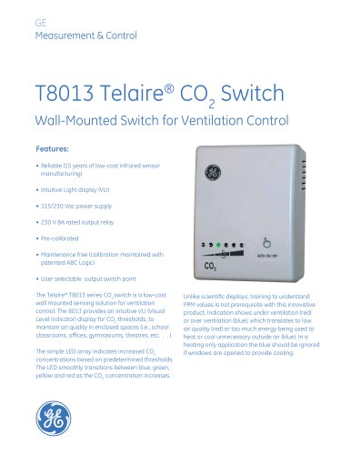 Telaire 8013 series CO2 switch Brochure