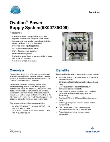 Data SheetPage -1Ovation™ Power Supply System