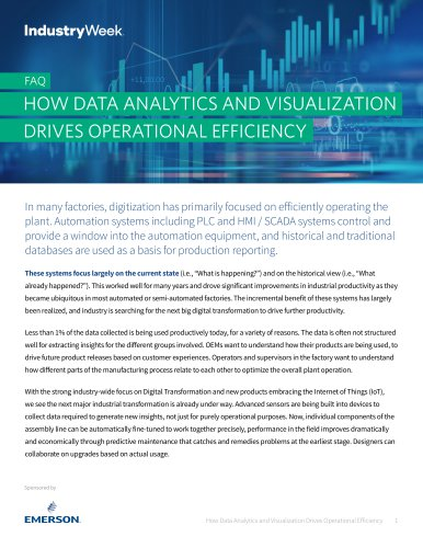 HOW DATA ANALYTICS AND VISUALIZATION DRIVES OPERATIONAL EFFICIENCY