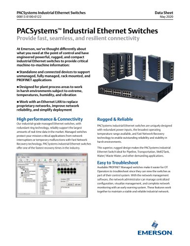 PACSystems Industrial Ethernet Switches