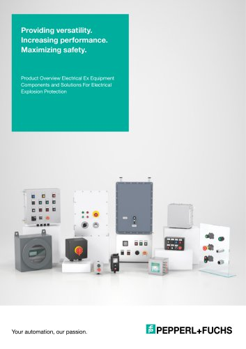 Product Overview Electrical Ex Equipment