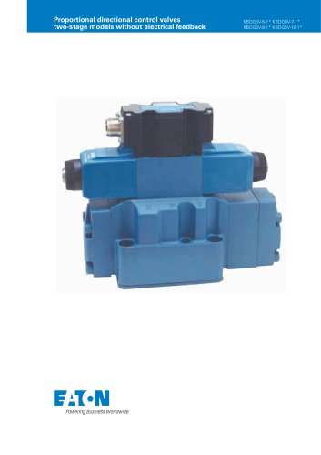 Proportional directional control valves two-stage models without electrical feedback