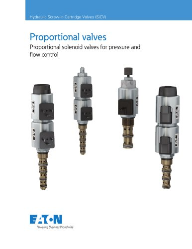 Proportional solenoid valves for pressure and flow control