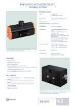 PNEUMATIC ACTUATOR EB-SYD,DOUBLE ACTING
