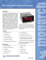 Panel Tachometers: ACT Series