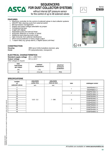 Catalogue-Accessories-Dust Collector-909