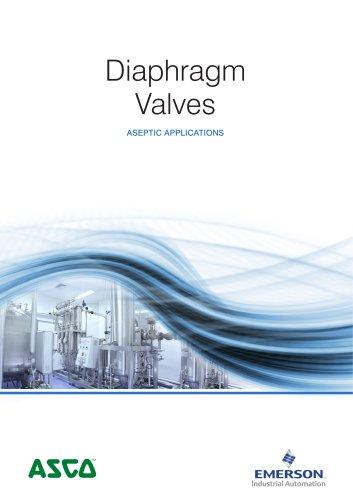 Product Brochure, Aspetic Applications, Diaphragm valves