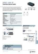 Pneumatic Vacuum Switch, PSE100P Series