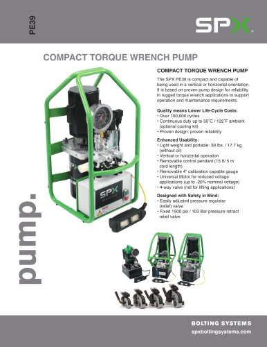 Compact Torque Wrench Pump
