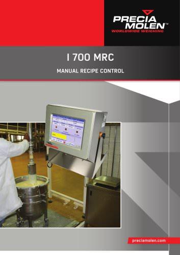I 700 MRC - Manual recipe control
