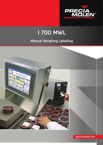 I 700 MWL - Manual Weighing Labelling